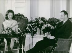 Harald V with Queen Sonja of Norway.