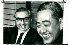Lord George Brown with Mr. Eisaku Sato during a funny moment
