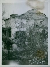 View of a ruined building.