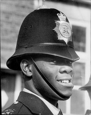 Portrait image of one of London's police officers.