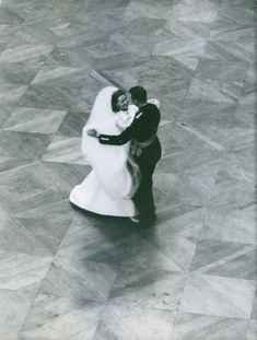 New married couple queen Sonja of Norway dancing with her husband Harald V of Norway at royal palace