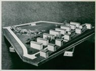 Model of the planned playfield at Traneberg