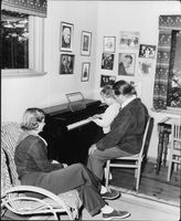 "Johan Jonatan ""Jussi"" Björling teaching his son how to play piano."