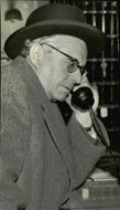 Dr. Hans Brockhaus on the phone