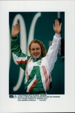 OS in Atlanta 1996. Michelle Smith from Ireland with his second gold (400m freestyle)