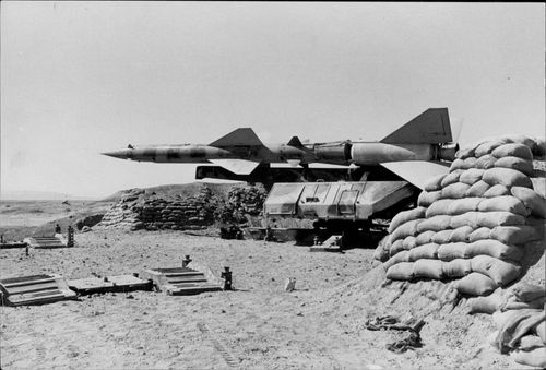 Russian Sam 3 robot on the western shore of the Suez Canal.