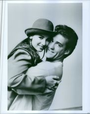 """A pictorial of the leading stars of """"The Flash"""" Paula Marshall and John Wesley Shipp"""