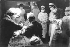 Geraldine Chaplin in operation theater.