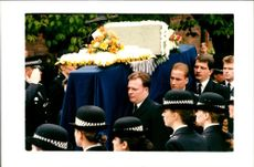 Funeral of PC Phillip Walters.