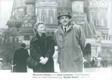 """Michelle Pfeiffer and Sean Connery in Fred Schepisi's movie """"Russian House"""""""