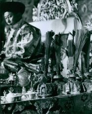 Traditional items placed on the table.