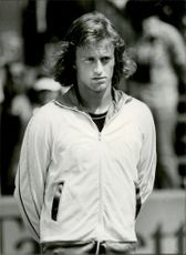 Portrait picture of tennis player Stefan Simonsson taken in an unknown match context.