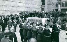 A funeral ceremony. April 14, 1970