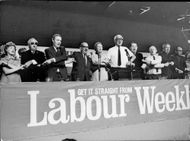 """The Labor Party's conference was traditionally terminated by singing """"Auld Long Eyes"""":"""
