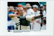 Sweden's Magnus Petersson took silver in archery at the Olympic Games in Atlanta