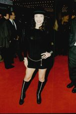 "Actress Fran Drescher at the premiere of the movie ""Harry Bit by Piece"""