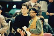 Spike Lee and Matt Dillon at a Knicks match