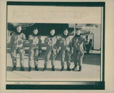 Thomas D. Akers, pilot Robert D. Cabins, commander Richard N. Richards, specialists Bruce F. Melnick and Williams M. Shepherd