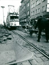 Tram construction in Essen