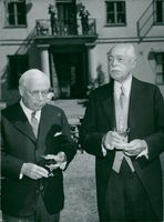 General Consul Johnson and Civil Engineer F. Egnell.