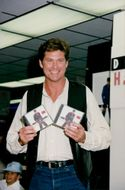 David Hasselhoff with his latest record