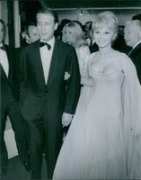 Marie France Anglade with her date at Cannes Festival. 1966.