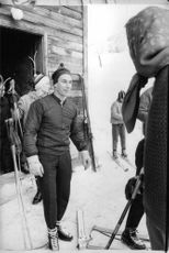 Karim Aga Khan with Maria Gabriella on skis The young Aga Khan was a competitive downhill skier, and he skied for Iran (at that time led by the secular Shah) in the 1964 Olympic Games