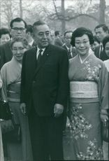 Eisaku Satō with his wife.