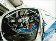 Swedish racing driver Rickard Rydell is preparing for the BTCC competition on Brands Hatch.