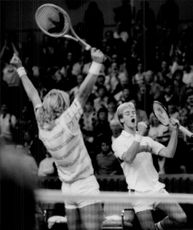 Davis Cup 1983: happy tennis player