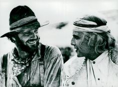 "Actors Jack Nicholson and Marlon Brando in the movie ""The Missouri Breaks"""