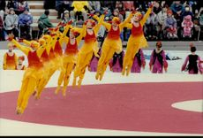Dance performance during the opening of the Winter Olympics in 1998