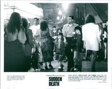A scene from the film Sudden Death.