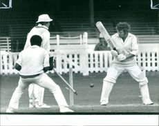 E.W Jones, offers no stroke to a ball from edmonds.