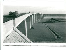 View of Orwell bridge.
