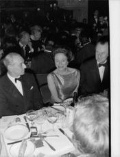 Duke of Windsor at a function with his wife.
