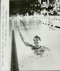 Gunilla Andersson set a new Swedish record of 200m butterfly under SM.