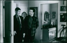 """Albert Brooks and Rob Morrow in the movie """"Mother"""" 1996"""