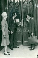 Timothy Smith with her mother and Sir. Keith Joseph.