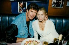 David Hasselhoff and Pamela Bach at the inauguration of Planet Hollywood in Hong Kong