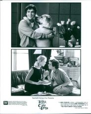 Different scenes from the film The Truth About Cats & Dogs with Ben Chaplin and Uma Thurman, 1996.