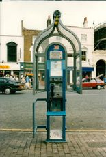 Mercury Communications phone box.