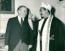 Muhammad al-Badr and Mr Selwyn Lloyd