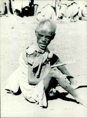 The plight of starving Ethiopia Famine.