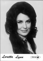 Portrait of country farmer Loretta Lynn.