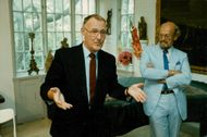 The founder of IKEA, Ingvar Kamprad and Bertil Torekull