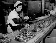 Production line in the chocolate factory Rübezahl in Dettingen unter Teck
