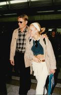 Dolph Lundgren arrives at the airport in Nice.