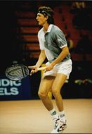 Croatian tennis player Goran Ivaniševic in action