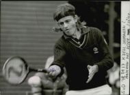Kjell Johansson during the match against Péter Szoke in Swedish Open 1978
